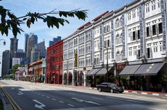 Singapore street view Royalty Free Stock Images