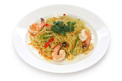 Singapore style noodles Royalty Free Stock Images