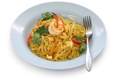 Singapore style noodles Royalty Free Stock Image
