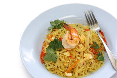 Singapore style noodles Royalty Free Stock Photography