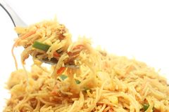 Singapore Style Stir Fried Rice Noodles Royalty Free Stock Photo