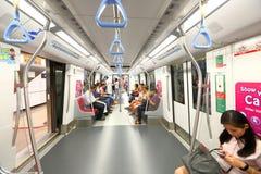 Singapore subway carriage MRT Stock Photography