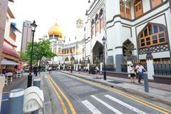 Singapore:Sultan Singapura Mosque Stock Image