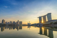 Singapore sunrise Royalty Free Stock Images