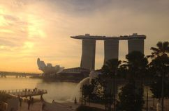 Singapore at Sunrise Stock Images