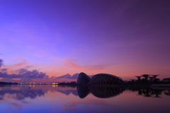 Singapore Sunrise at the New Botanical Garden Stock Images