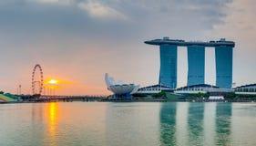 Singapore sunrise view Royalty Free Stock Photography