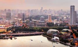 Singapore at sunset Royalty Free Stock Photography