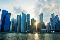 Singapore at sunset Stock Image