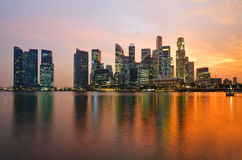 Singapore at sunset Stock Images