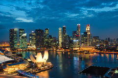 Singapore Sunset Stock Photography