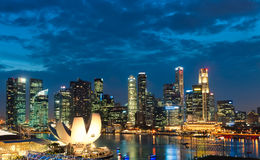 Singapore Sunset Royalty Free Stock Photography