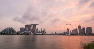 Singapore in the sunset Royalty Free Stock Photography