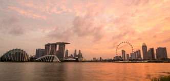 Singapore in the sunset Stock Photography