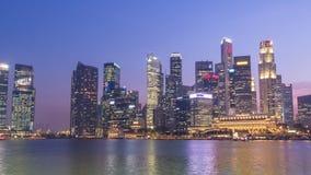 Singapore city skyline stock video footage