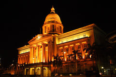 Singapore Supreme Court. The night scene of Supreme Court in Singapore Royalty Free Stock Images