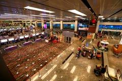 Singapore: T1 dell'aeroporto internazionale di Changi Fotografia Stock Libera da Diritti