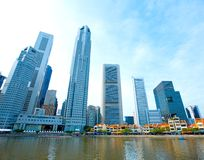 Singapore tall skyscrapers in the city Stock Image