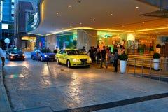 Singapore taxi royaltyfri bild