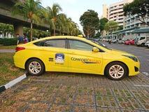 Singapore: Taxi Arkivbilder