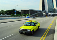 Singapore taxi Stock Photography