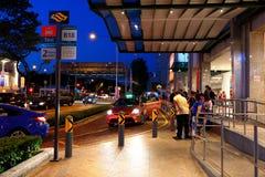 Singapore Taxi Stock Photo