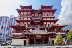 Singapore, Tempel van de Heilige Tand van Boedha Stock Afbeeldingen