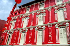 Singapore: Temple Street House in Chinatown Stock Photos