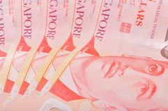 Singapore Ten Dollar Notes Royalty Free Stock Photo