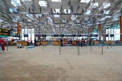 Singapore: Terminale di aeroporto internazionale di Changi 3 Fotografia Stock Libera da Diritti