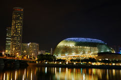 Singapore theater at night Stock Photos
