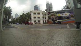 Singapore traffic crossroad stock footage