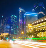 Singapore traffic , motion blur Stock Images
