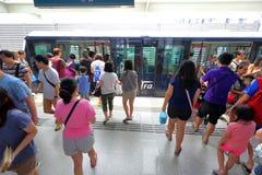 Singapore: Transport LRT för ljus järnväg Arkivbild