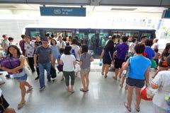 Singapore: Transport LRT för ljus järnväg Arkivbilder