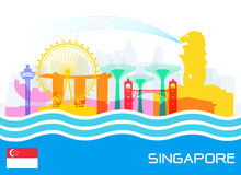 Singapore Travel Landmarks Royalty Free Stock Photos