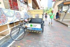 Singapore : Trishaw uncle Stock Photos