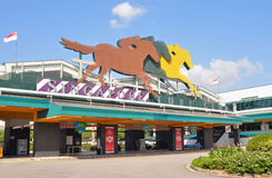 Singapore Turf Club Racecourse Entrance at Kranji, Singapore Stock Photo