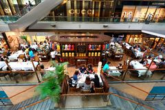 Singapore: TWG at Marina Bay Sands Shopping Mall Royalty Free Stock Images