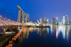 Singapore at twilight Royalty Free Stock Photography