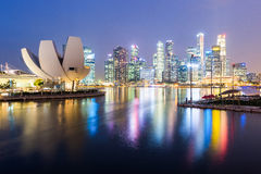 Singapore at twilight Stock Image