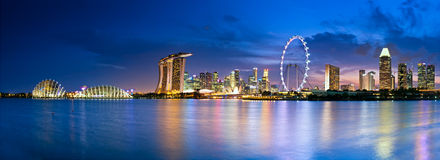 Singapore in twilight Stock Images