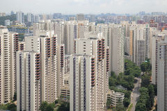 Singapore Typical Apartment Housing Buildings Stock Photography