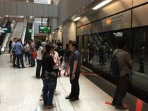 Singapore underground mrt station Royalty Free Stock Photo