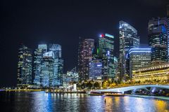 Singapore upper view Royalty Free Stock Image
