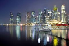 Singapore Urban Nightscape Stock Photo