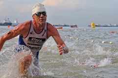 Singapore van Aviva ironman triathlon 2011 Stock Foto