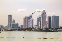 Singapore van de binnenstad zoals die van Marina Bay wordt gezien Royalty-vrije Stock Afbeelding