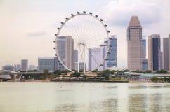 Singapore van de binnenstad zoals die van Marina Bay wordt gezien Stock Fotografie
