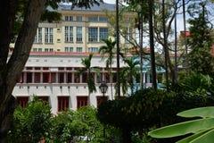 Singapore, vecchia città alloggia le facciate Parte anteriore variopinta della via Immagine Stock Libera da Diritti